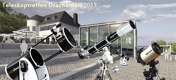 Die Teleskope der Sternfreunde Siebengebirge auf dem neugestalteten Drachenfelsplateau