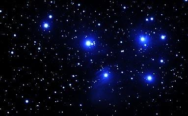 Der offene Sternhaufen der Plejaden