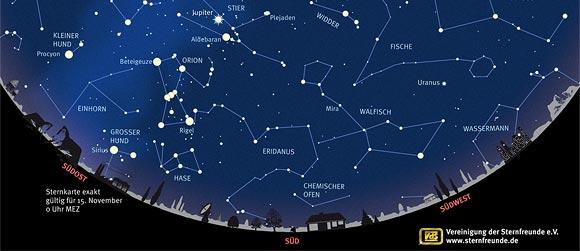 Der Sternenhimmel im November 2012, Quelle: VdS