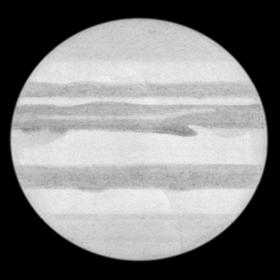 Jupiter Bleistiftzeichnung vom 14.11.2012, (c) Lambert Spix