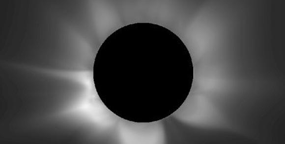 Vorhersage der totalen Sonnefinsternis am 14.11.2012