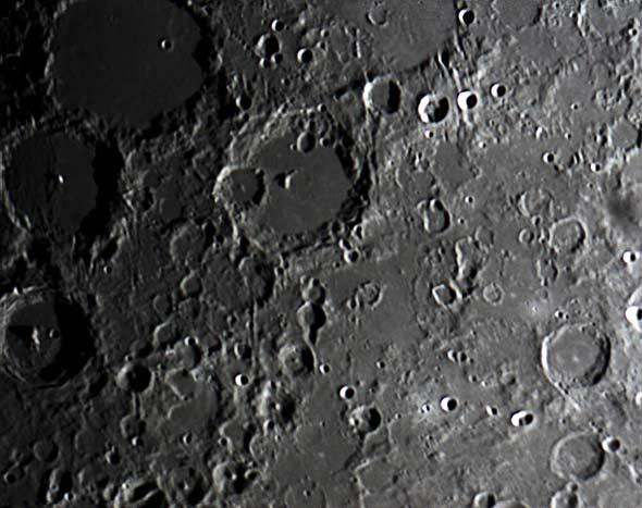 Blick auf den Mond, (c) Peter Oden