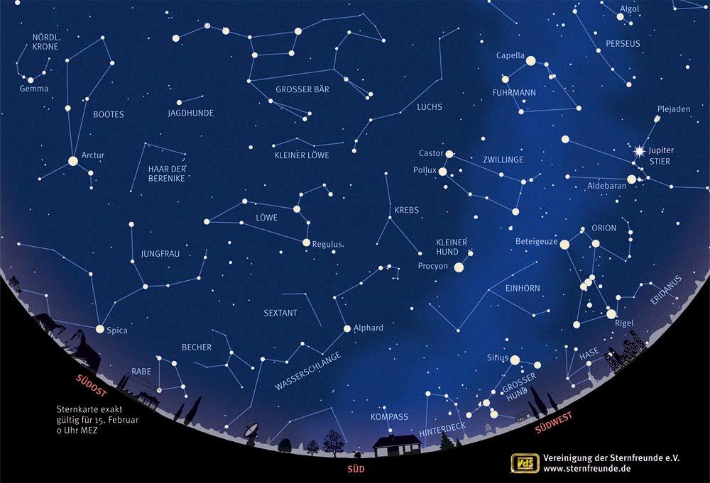 Sternbilder Erkennen