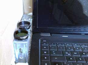 Laptopbox - Die Filter sitzen direkt über der warmen Abluft des Laptops