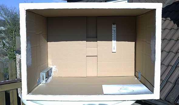 Die fertig zusammengebaute Box