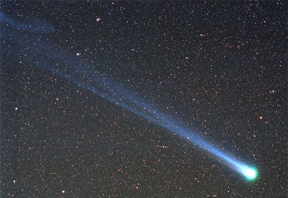 Komet Hyakutake, Credit & Copyright: Doug Zubenel (TWAN)