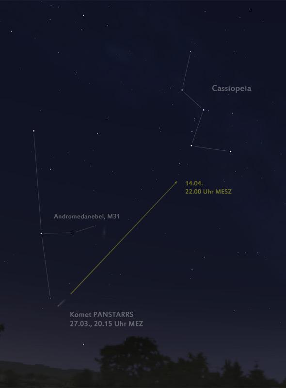 Himmelkarte Komet PANSTARRS
