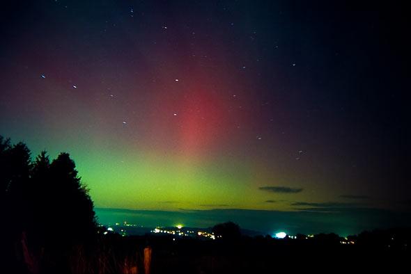 Polarlichter über dem Siebengebirge, (c) Christoph Prall