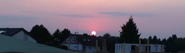 Sonnenuntergang am 25.07.2012 in Bruchhausen, (c) Daniel Bockshecker