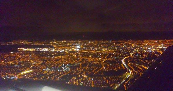 Lichtverschmutzung über Dublin, (c) Daniel Bockshecker