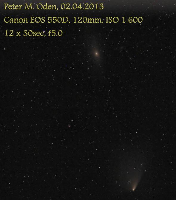 Komet PANSTARRS und M31 über der Eifel, (c) Peter Oden