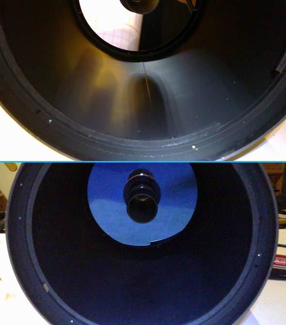 Teleskoptubus ohne und mit Velour