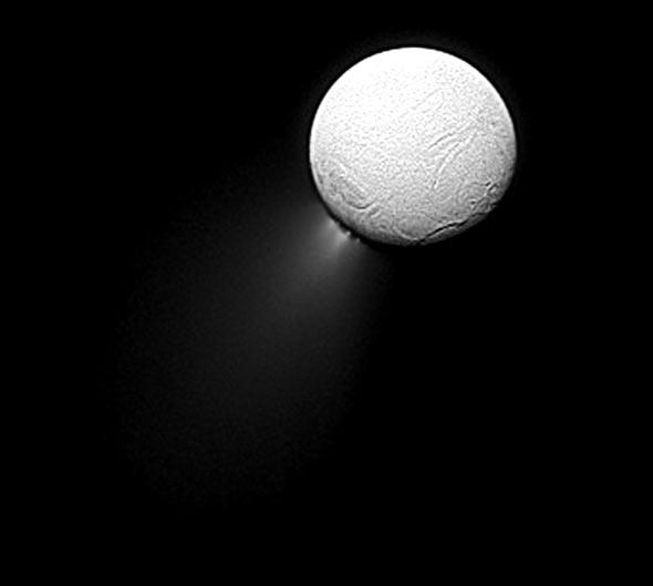 Saturnmond Enceladus, (c) NASA, ESA, JPL, Nachbearbeitung C.Preuß