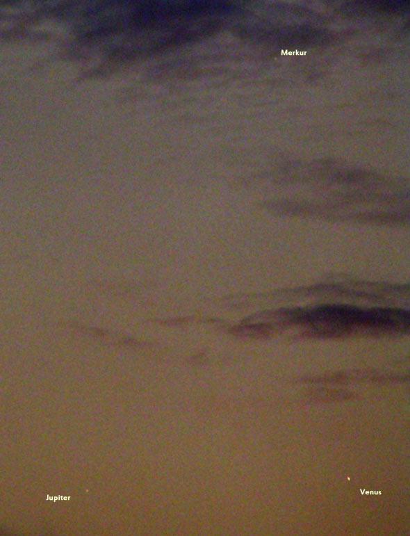 Planetentrio am 27. Mai 2013