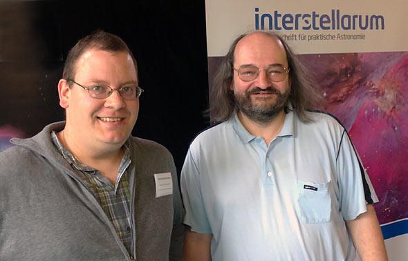Daniel Bockshecker (links) und Daniel Fischer auf der ATT