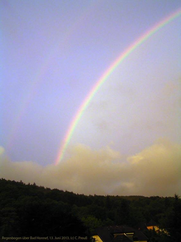 Regenbogen über Bad Honnef / Siebengebirge, 13.06.2013, (c) C. Preuß