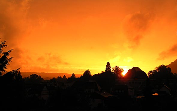 Sonnenuntergang über Bad Honnef, 13.06.2013, (c) C. Preuß