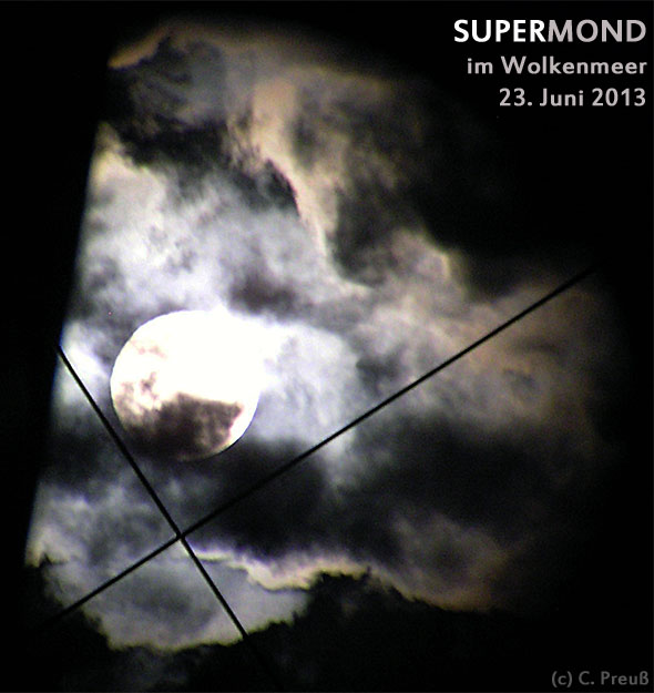 SUPERMOON im Fadenkreuzsucher