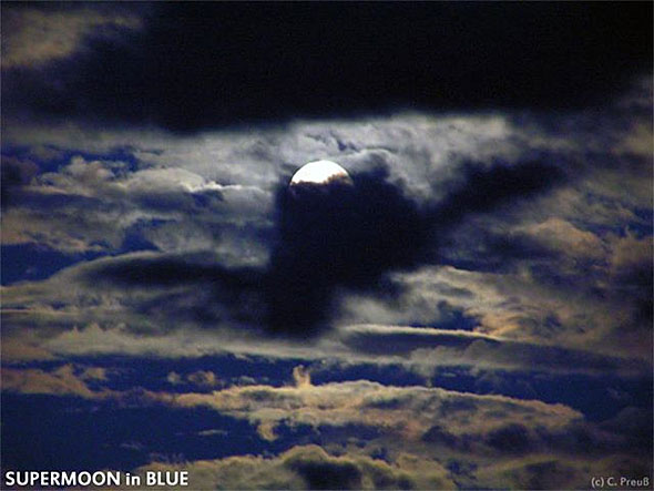 Supermoon in Blue