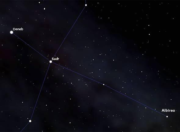 Albireo im Sternbild Schwan, Quelle Stellarium