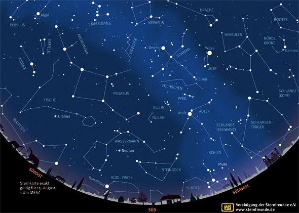 Der Sternenhimmel im August 2013, (c) VDS
