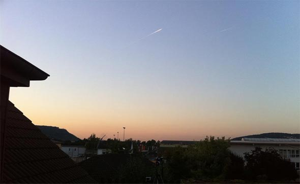 Der abendliche Himmel über Unkel, (c) Thomas Haas