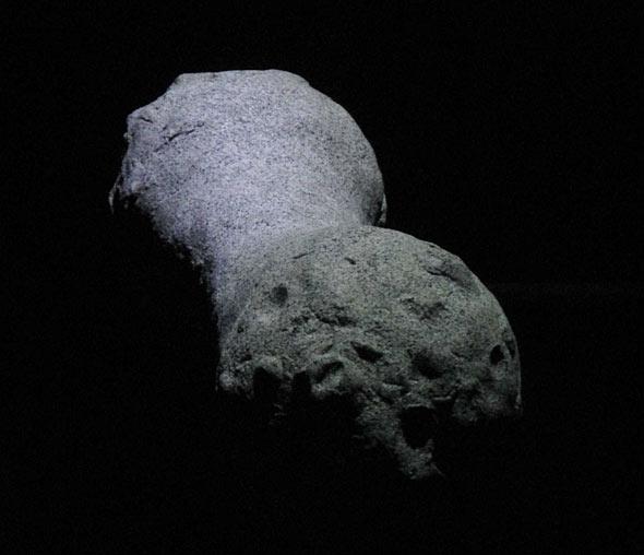 Das Modell eines erdnussförmigen Kometenkerns, (c) D. Bockshecker