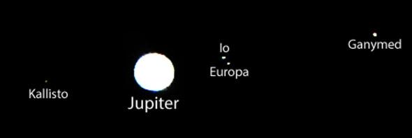Jupitermonde, 12.01.2014, (c) D. Bockshecker