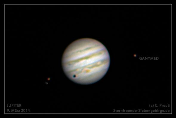 Jupiter mit Ios Mondschatten, (c) C. Preuß