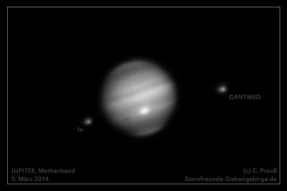Jupiter im Methanband, (c) C. Preuß