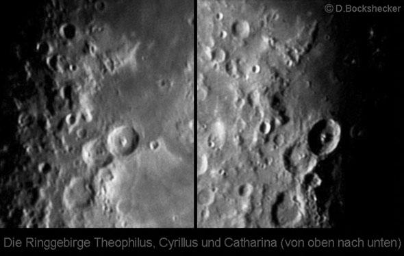 Die Ringgebirge Theophilus, Cyrillus und Catharina, (c) D. Bockshecker