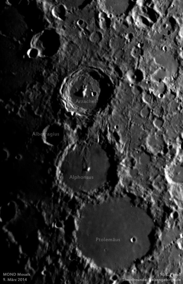 Mond, Mosaik aus zwei Aufnahmen, (c) C. Preuß