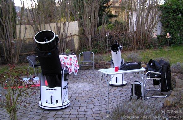Die Teleskope sind schon aufgebaut, (c) C. Preuß