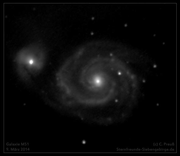 Galaxie M51, (c) C. Preuß