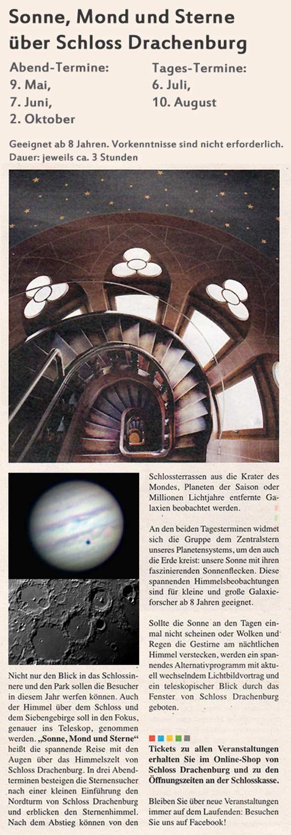 Schloss Drachenburg - Sonne, Mond und Sterne