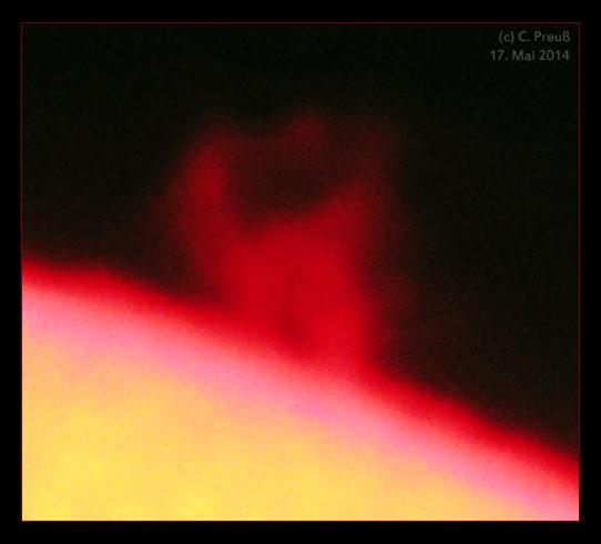 Sonnenprotuberanz, (c) C. Preuß