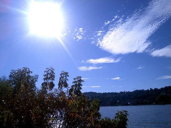 Sonne über dem Rhein, 19.10.2014, (c) C. Preuß