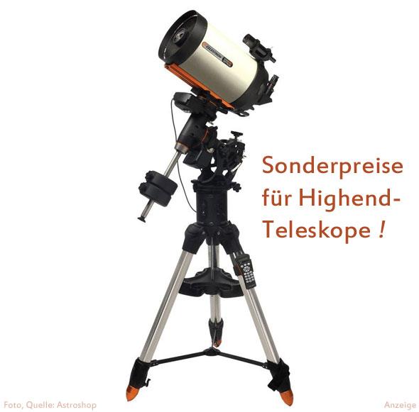 Sonderpreise für Celestron Teleskope