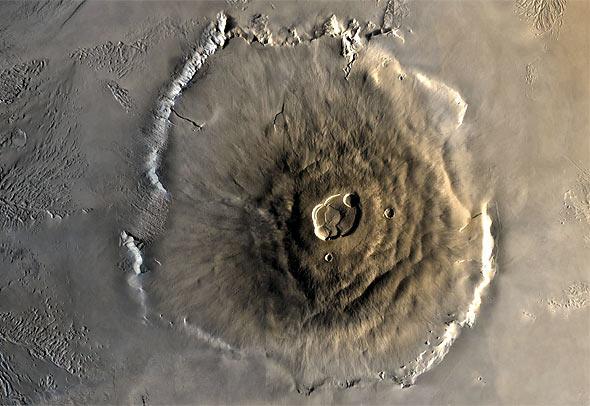 Olympus Mons, credit: ESA, Mars Express