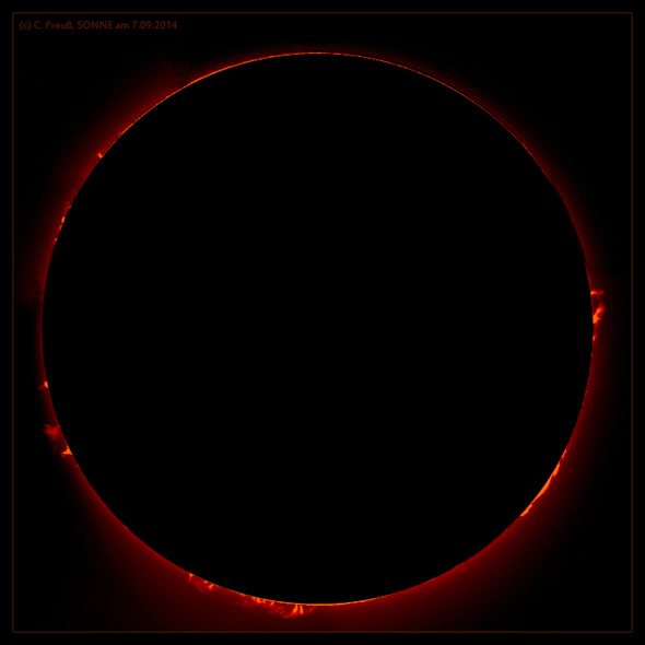 Sonne in h-alpha, (c) C. Preuß